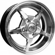 Легкосплавный диск Wolf Racing - 740 5.5х13 4x100 ET 35 DIA 67.1 HS Lip polish