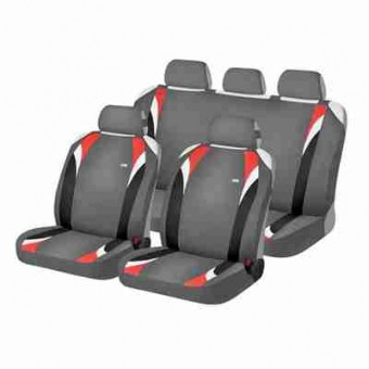 Комплект автомаек Hadar&Rosen FORMULA 22118 серый / красный